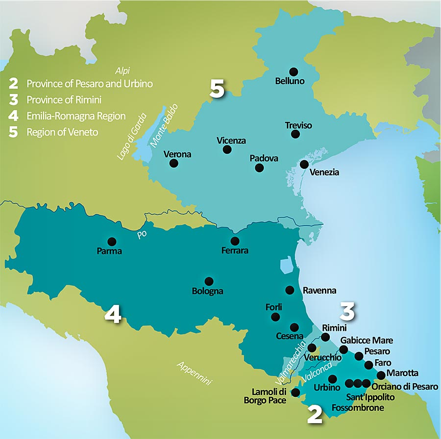The Province of Rimini coordinator of the AdriaMuse project